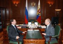 Встреча президента РФ с премьер-министром РФ