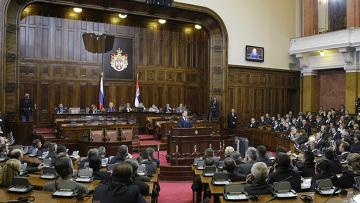Д. Медведев выступил в Народной скупщине Сербии