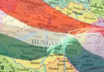Венгрия на карте Европы