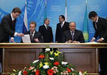 Подписание российско-казахстанских соглашений