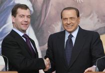 Дмитрий Медведев и Сильвио Берлускони