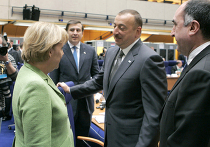 Ангела Меркель, Михаил Саакашвили и Ильхам Алиев