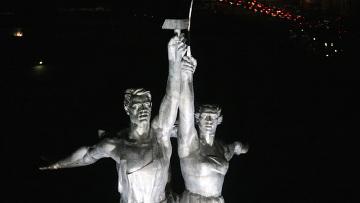 """Открытие скульптурной композиции """"Рабочий и колхозница"""""""