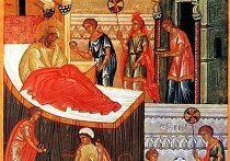Рождество Пресвятой Богородицы. Фрагмент иконы