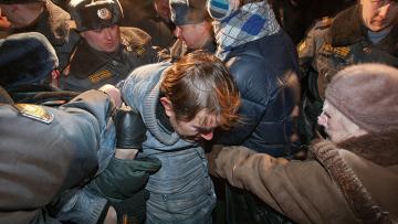 Акция в защиту 31 статьи Конституции на Триумфальной площади в Москве