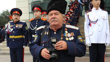 Казаки Всевеликого войска Донского в Новочеркасске