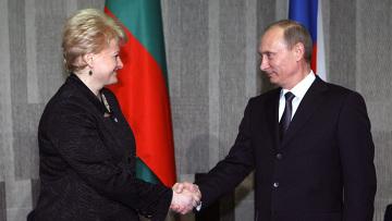 Встреча премьер-министра РФ Владимира Путина с президентом Литвы Далией Грибаускайте