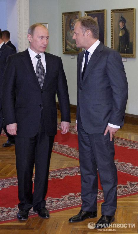 Владимир Путин и Дональд Туск