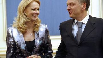Татьяна Голикова и Виктор Христенко