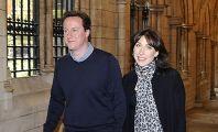 Новый премьер-министр Великобритании Дэвид Кэмерон и его супруга