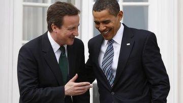 Новый премьер-министр Великобритании Дэвид Кэмерон и Барак Обама
