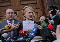 Юлия Тимошенко получила постановление о возбуждении уголовного дела