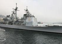 """Визит ракетного крейсера ВМС США """"Каупенс"""" во Владивосток"""