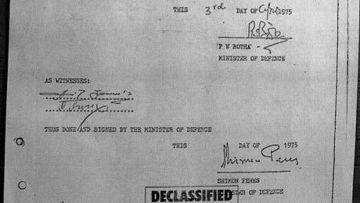 Секретный протокол переговоров между Израилем и Южной Африкой
