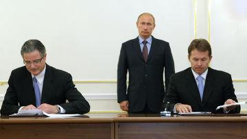 """В.Путин провел встречу с руководством корпорации """"Шеврон"""""""