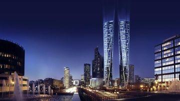 Проект башен-близнецов в районе Дефанс в Париже
