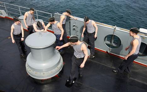 """Корабельная приборка на крейсере """"Варяг"""""""
