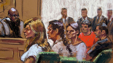 Рисунок, на котором изображены подозреваемые в шпионаже в пользу России