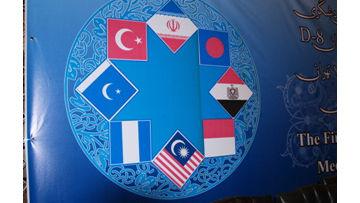 Флаги стран-участниц D-8