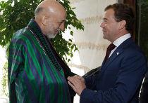 Президент РФ Дмитрий Медведев встретился с Хамидом Карзаем