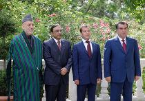 Встреча Д.Медведева с Э.Рахмоном, Х.Карзаем, А.Зардари
