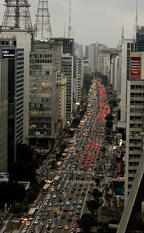 Пробки на дорогах Бразилия Сан Паоло