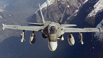 Канадский военный самолет CF-18 Hornet