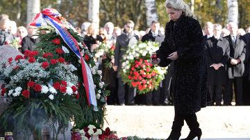 С. Медведева приняла участие в траурных мероприятиях в Смоленске