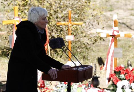 Эва Коморовская посетила мемориал в Катыни