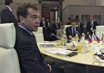 Президент России Дмитрий Медведев во Франции