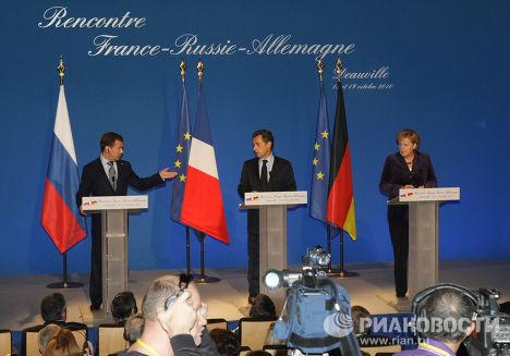 Встреча лидеров России, Франции и Германии в Довиле