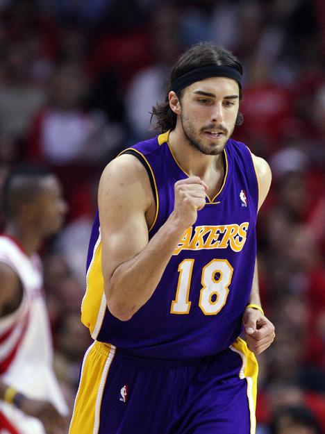 Звезда команды NBA Los Angeles Lacers баскетболист Cаша Вуячич