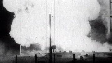 Взрыв ракеты Р-16 на космодроме Байконур, 24 октября 1960 г.
