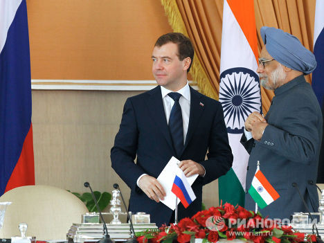 Официальный визит Дмитрия Медведева в Индию