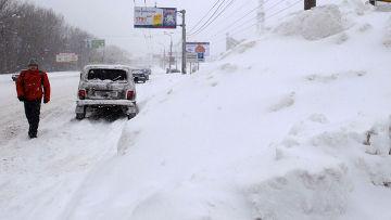 Последствия снегопада в Самаре
