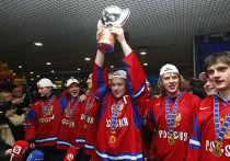 Прилет молодежной сборной России по хоккею в Москву