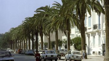 Вид на улицах города Туниса