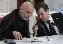 Переговоры Дмитрия Медведева и Хамида Карзая