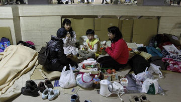 постродавшие от землетрясения в японии