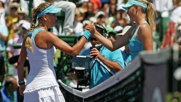 Российская теннисистка Мария Шарапова и Виктории Азаренко