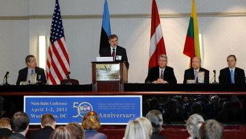 отмечание пятидесятой годовщины основания организации Совместного Балтийского американского национального комитета (JBANC - Joint Baltic American National Committee)