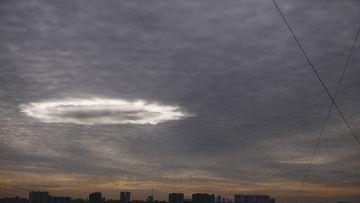 Необычное явление в небе над Москвой