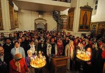 Празднование пасхи в Варлаамо-Хутынском монастыре