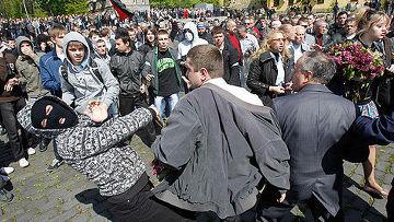 9 мая во Львове произошли беспорядки и столкновения.