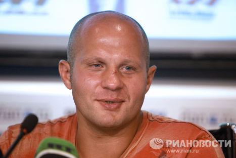 Пресс-конференция Федора Емельяненко в агентстве РИА Новости
