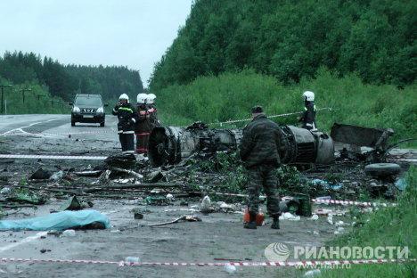 Крушение пассажирского самолета ТУ-134 в Карелии