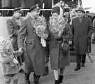 Встреча космонавтов Леонова и Беляева в аэропорту Внуково, 1965 год