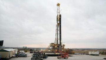Буровая по добыче сланцевого газа в США