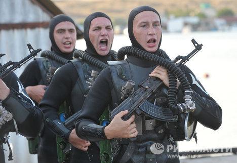 Учения Черноморского флота РФ в Севастополе