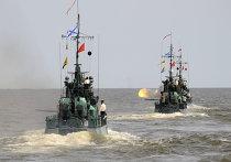 Учения на Каспийской флотилии